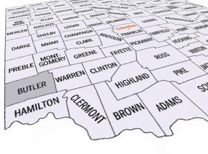 Butler's Adjacent Ohio Counties