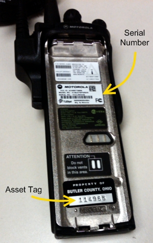 Asset Tag and Serial Number on XTS-5000